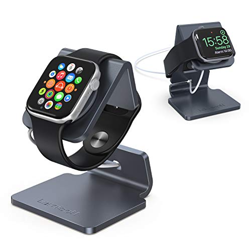 Stand for Apple Watch, Lamicall Charging Stand : Desk Watch Stand Holder Charging Dock Station Designed for Apple Watch Series 5 / Series 4 / Series 3/2 / 1 / 44mm / 42mm / 40mm / 38mm - Gray