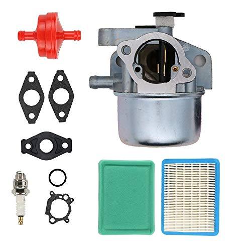 SAKITAM Carburetor for 12AE449D066 12AG836E011 12AV566F211 12AV835Q766 12AG836G266 12AG836G211 12AV566N011 (2007) Troy Bilt Model Lawn Mower with Gaskets Spark Plug Air Filter Carb Kit