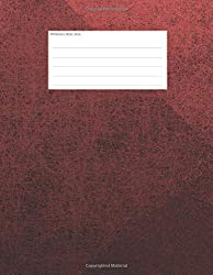 Booklets - Books - Notes: Music manuscript paper, 5-line staves, with simple clean design. Cover red. C93
