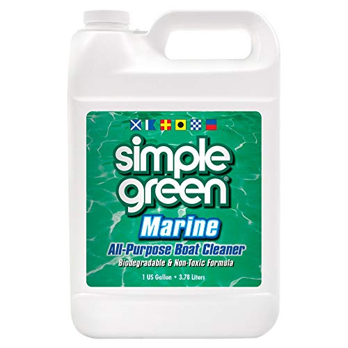 Simple Green Marine All-Purpose Boat Cleaner for Hulls, Non-Skid Decks, Vinyl, Fiberglass and Bilge - 1 Gal.