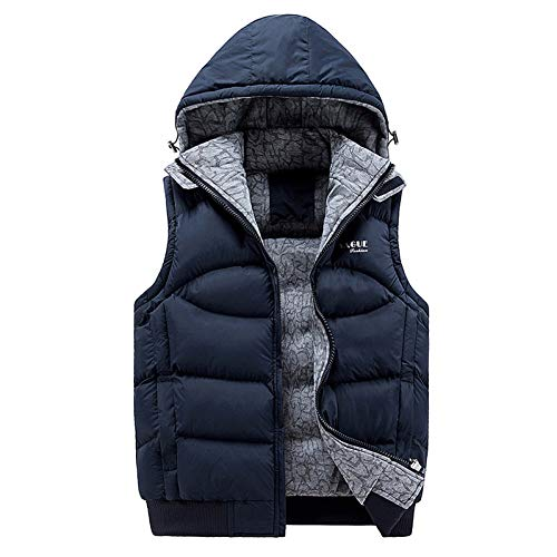 Shangyi jack mouwloze jas mannen dik katoen vest muts capuchon warm vest winter vest mannen casual windjack