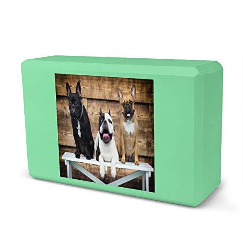 IPOXK Yoga Block,French Bulldog Foam Yoga Block,EVA Foam Brick Featherweight and Comfy-Soft Non-Slip Surface Provides Stability and Balance for Yoga, Exercise, Pilates, Meditation