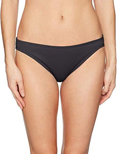 COCO RAVE Junior's Classic Cut Bikini Bottom Swimsuit, Good Vibrations Jet Black, Small
