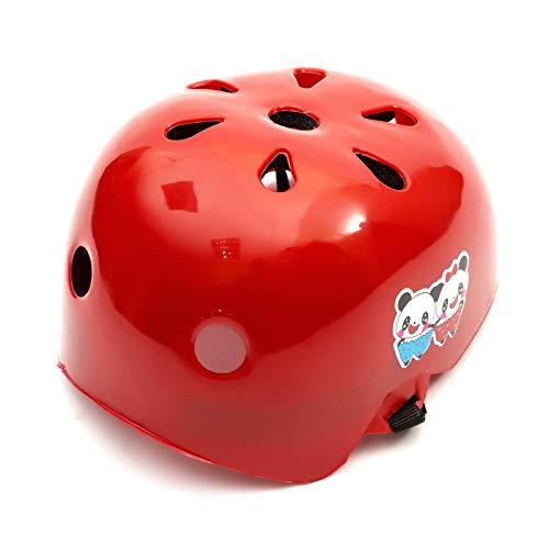 Universal Niña Infantil Rojo Protector Casco 2-5 Años Scooter Skate Patines Cuchillas...
