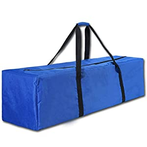"""COOLBEBE 45"""" Sports Duffle Bag - Extra Large Travel Duffel Luggage Bag with Upgrade Zipper, Durable & Water Resistant, Blue"""