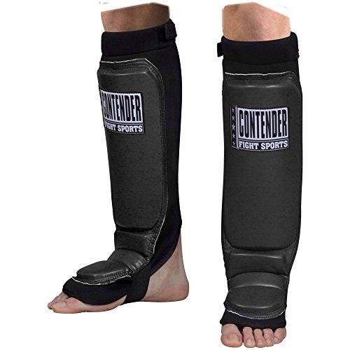 Contender Fight Sports MMA Grappling Shin Guards (Black, Regular)