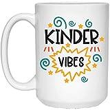 Funny Baby Kids Gift Kinder Vibes Tazza da caffè bianca