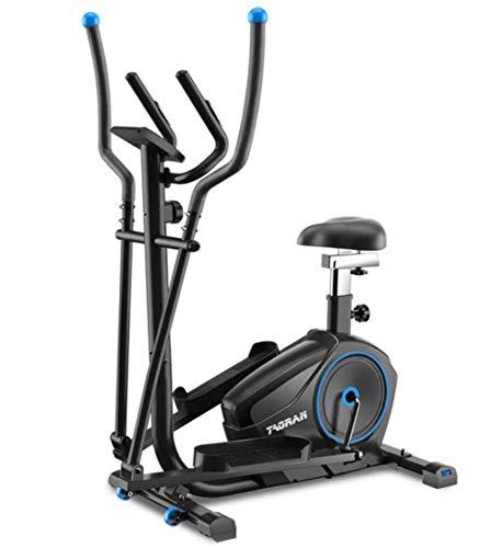 JXH Equipo de la Aptitud 2-en-1 elíptica de la Bicicleta estática-Fitness Cardio Pérdida de Peso Entrenamiento Máquina-con Asiento + Ritmo cardíaco del Pulso Sensores Bicicleta elíptica