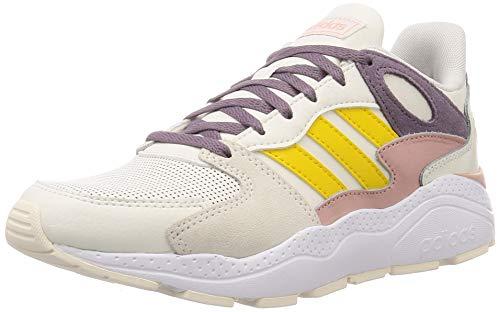 Adidas CRAZYCHAOS, Zapatillas para Correr Mujer, Cloud White/EQT Yellow/Legacy Purple, 41 1/3 EU
