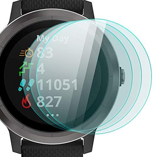 zanasta 3 Stück Schutzfolie für Garmin Vivoactive 3 Bildschirmschutzfolie aus gehärtetem Glas | Panzerglasfolie Smartwatch Zubehör