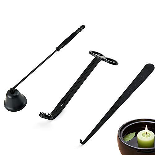 Kerzen-Zubehör-Set, Edelstahl-Werkzeug-Set für Kerzendocht, Löscher und Ablageschale, Kerzenpflegeset, Zubehör mit Dochtlöffel