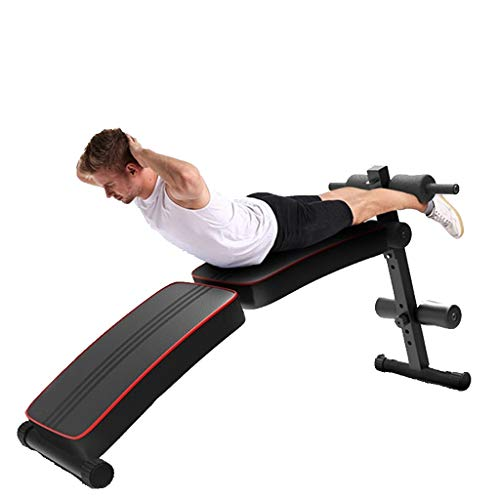 Sit Up Bench, Foldable Adjustable Weight Bench Incline Decline Sit Up Bench for Abs Exercise, Weight Capacity Rated Full Body Workout Home Gym Fitness Equipment (Black)