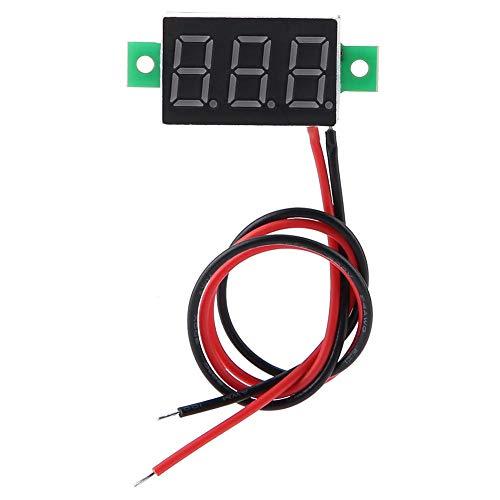 2線式デジタル電圧計電圧パネルモジュール0.36インチ導通LEDディスプレイDC2.5-30V、テスト電圧2.5-30Vの自...