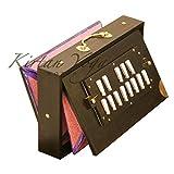 shruti box raga s1, qualità professionale, legno di teak burma, 13 note da c a c, colore scuro, con borsa