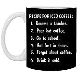 Yilooom Taza de café, taza de té, idea – 15 onzas, receta para café helado convertirse en profesor