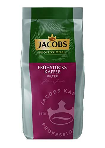 Jacobs Professional Frühstückskaffee Filterkaffee, 1kg gemahlener Kaffee, markant-würziges Aroma, schnelle Durchlaufzeit, ergiebig, aus Arabica und Robusta-Bohnen