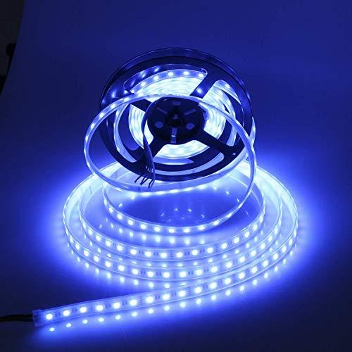 RGBW Led Strip 4 in 1 LED Streifen 5m, Dream Color 300Leds 5050 RGB Led Streifen Tape, Farbe Ändern Flexible LED Streifen Lichter DC 12V IP67 Wasserdichte (Weiße PCB)
