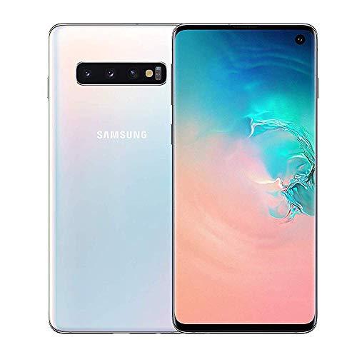 Samsung Galaxy S10 128GB / 8GB RAM SM-G973F Hybrid/Dual-SIM (GSM Only, No CDMA) Factory Unlocked 4G/LTE Smartphone - International Version (Prism White) (Renewed)