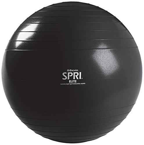 SPRI Elite Xercise Balance Ball, Black, 65cm
