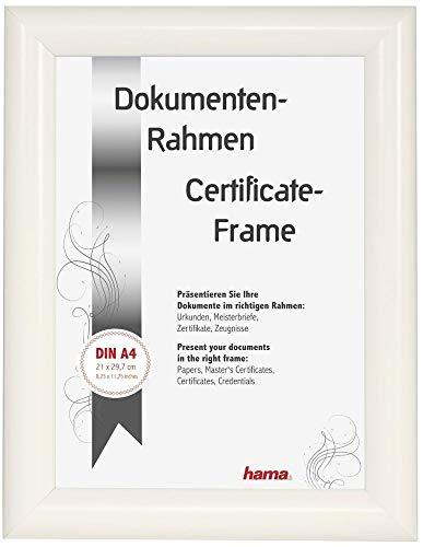 Hama Cadre Photo en Plastique Sofia, Blanc, 21 x 29,7 cm