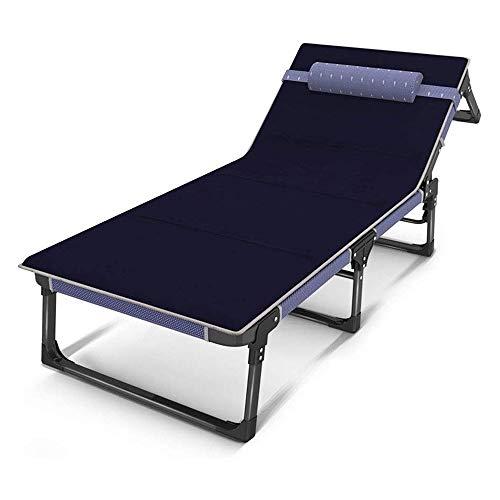 XIAOHE Einfacher Tragbares Klappbett Büroschlaf Einziges Lehnstuhl Multifunktions-Stühle