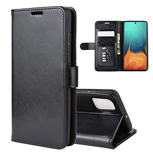 ROVLAK - Funda con Tapa para Samsung Galaxy A71 (Piel sintética, con Tarjetero, Interior de Silicona TPU, con función Atril)