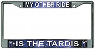 My Other Ride Is The Tardis Chrome License Plate Frame