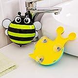 SDKJSFH/New Cute Kawaii Bee Snail Shaped Storage Rack Wall Holder for Toothbrush Bathroom Rack Housekeeping OrganizerStrongSucker