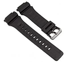Genuine Casio Replacement Band Band Width: OEM Size as on Original Watch Color: Black, Material: Resin Resin Buckle Fits Model: AEQ110BW, AEQ110W, AQ-S810W, W735H