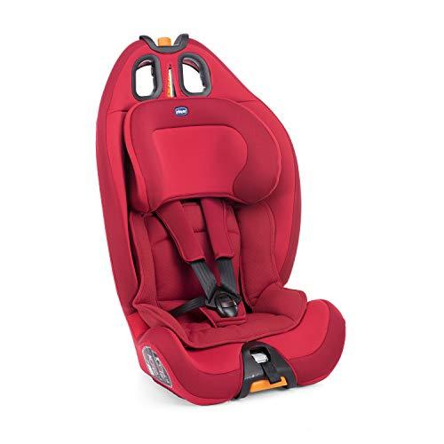 Chicco Gro-Up 123 Siège Auto pour Bébé 9-36 kg, Groupe 1/2/3 pour Enfants de 9 mois à 12 ans, Facile à Installer, avec Appui-Tête Réglable, Réducteur pour Bébé et Coussin Souple - Red Passion