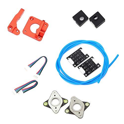 Socobeta Piezas de Impresora 3D Kit de actualización de reemplazo Mejorado Accesorio de Impresora 3D Marco de extrusora de Resorte a Nivel de Cama Productos de Oficina Funda de Silicona