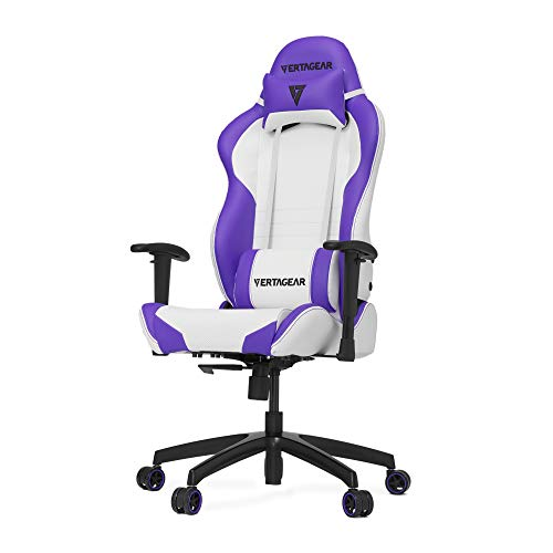 Vertagear S-Line 2000 Racing Series Gaming Chair, Large, White/Purple