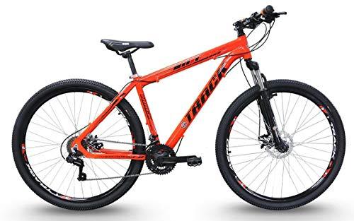 Bicicleta Aro 29 TKS 29 Laranja 21v Alumínio Shimano Suspensão Dianteira, Track Bikes