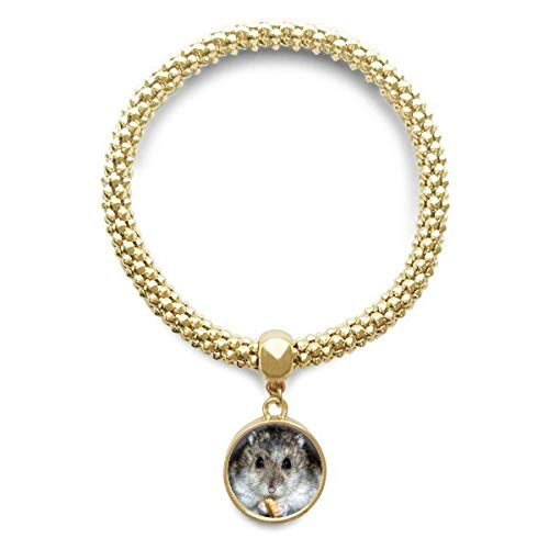 DIYthinker Damen Hamster Tier Ratte Haustier-Nette Essen goldene Armband Laufende Anhänger Schmuck-Kette