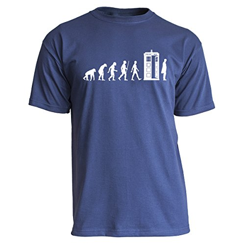 Nukular T-Shirt Tardis Evolution, Farbe Navy, Größe L