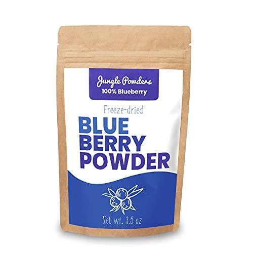 Jungle Powders Wilde Heidelbeeren Pulver - 100g 100% Natürliche nordische Herkunft -Gefriergetrocknete Heidelbeere Pulver - Superfood Pulver Gefriergetrocknete Blaubeeren ohne GMO