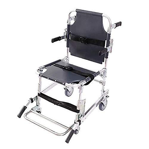 LRX Transferhilfen Treppen-Schiebebrett Nottransportdienst Stuhl Faltbare Aufzug Treppen Stuhl mit verstellbaren Trägern Ambulance Fireman Evakuierung Aluminium