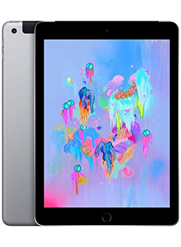Apple iPad 9,7 (6th Gen) 128GB WiFi - Cellular - Grigio Siderale - Sbloccato (Ricondizionato)