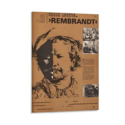 ASDWE Rembrandt 1965 Kunstdruck auf Leinwand, Vintage, klassisch, Film-/TV-Poster, Ölgemälde, gedruckt auf Leinwand, für Heimdekorationen, zum Aufhängen für Wohnzimmer, 30 x 45 cm