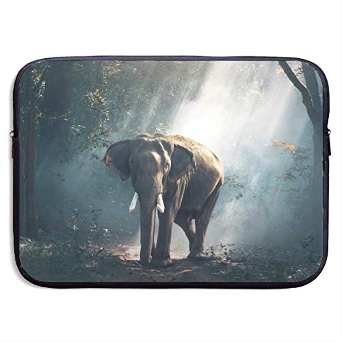 Zome Lag laptoptas, draagbare laptophoes, laptoptas, laptoptas, laptoptas, laptoptas, laptoptas, laptoptas, laptop-beschermtas, olifant in het bos computer laptoptas, laptophoes tas M(15 Inch) 375