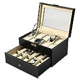 PAPAGEI時計ケース 20本 ウォッチ 収納ボックス PUレザー時計オーガナイザース