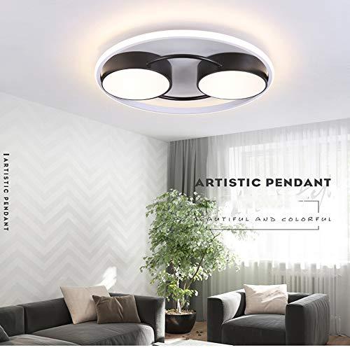 Plafondlamp, controlelampje, wandschakelaar, plafondlamp, LED, rond, sober, creatief, warmwit licht 45cm Wit licht