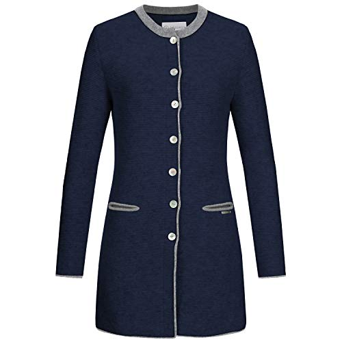 GIESSWEIN Gehrock Luna - hochwertige Strickjacke aus 100% Lammwolle, eleganter Damenmantel aus aus Feinstrick, stilvoller Mantel aus Wolle