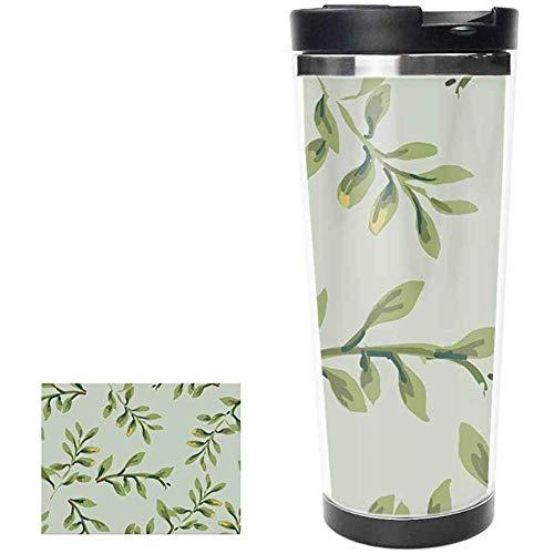 datgirl Trinkflasche Tropical Plants Edelstahlflasche Vakuumisoliert Auslaufsicher Doppelreisebecher Tumbler Cup