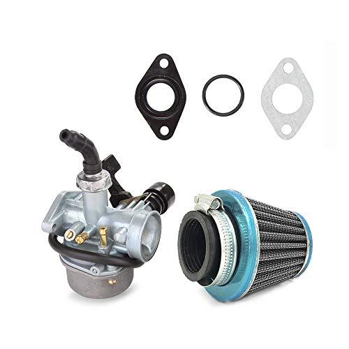 KKmoon Motorrad Vergaser mit Luftfilter PZ19 Vergaser für 50 70 90 110cc ATV Quad 4 Wheeler