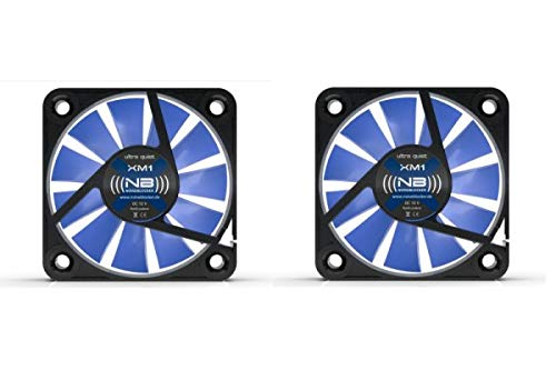 (((noiseblocker))) BlackSilentFan XM-1 (2er Pack) - 40x40x10mm - 3Pin - 9/12V - 2800U/min - 9dbA - 4.9m3/h