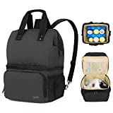Luxja Breast Pump Bag with 2 Compartments for Breast Pump...