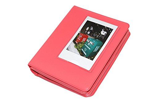 Macaron Buntes Feld PU-Leder-Mini Polaroid Films Buch Fotoalbum für Fujifilm Fuji Instax Sofort mini 7s / 8/25/50/90/70 Rose Pink