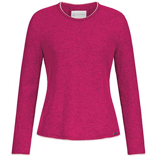 GIESSWEIN Pullover Nelly - Feinstrick aus 100% Lammwolle, kuschelig weicher Damenpullover, feiner Woll Pulli für Damen, Sweatshirt, Strick-Pullover mit Zopfmuster am Rücken