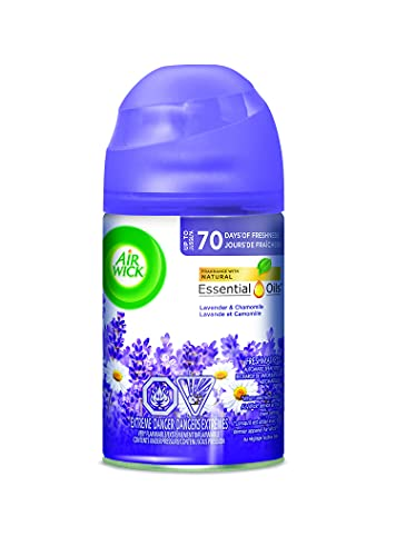 Air Wick Pure Freshmatic Refill Automatic Spray, Lavender & Chamomile, 1ct, Air Freshener, Essential Oil, Odor Neutralization, Packaging May Vary, Clear, 5.89 Ounce (6233877961)
